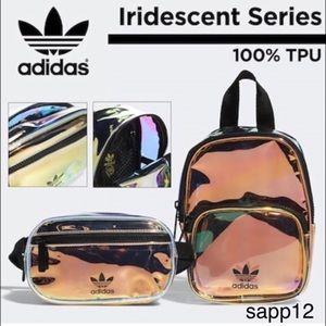 🆕ADIDAS///IRIDESCENT  Backpack & Waist Pack Combo